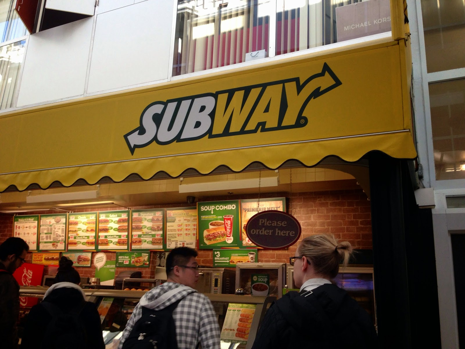 Subway in HUB