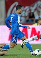 Cristiano Ronaldo en partido con el Real Madrid