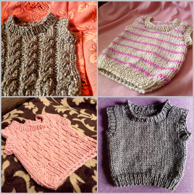 Knitting Patterns For Toddlers Vest : Niki Jin Crafts: Niki Knits: Baby Vests (with free pattern)