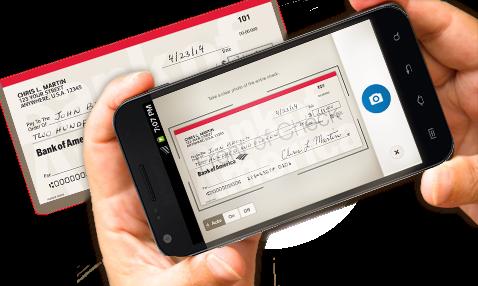 Dépôt de chèque sur mobile