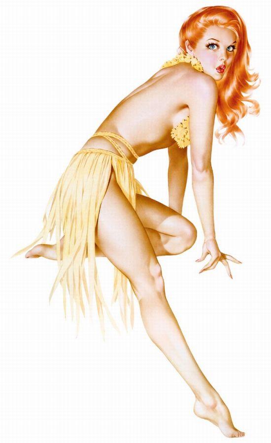 голых женщин весёлых рисунки