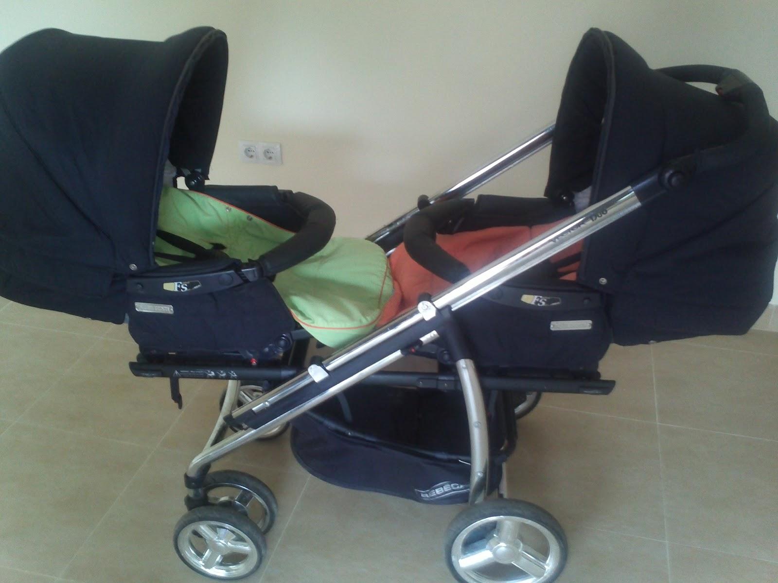 Segunda mano como nuevo silla de paseo gemelar marca bebecar modelo vector duo en color azul - Silla de paseo bebecar ...