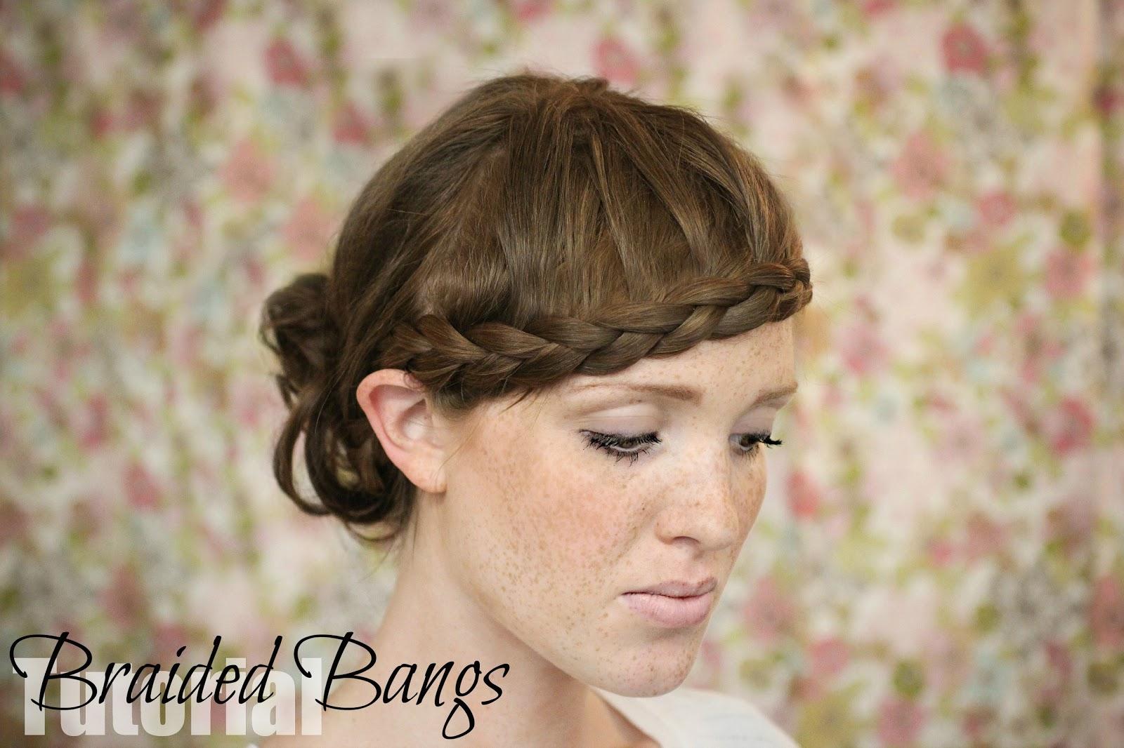 The Freckled Fox Hair Tutorial Braided Bangs