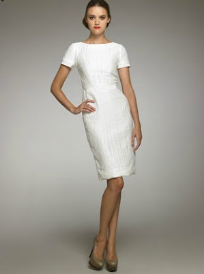Croc-Textured Sheath Dress
