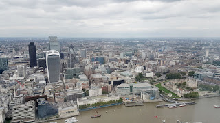 The river thames from the shard