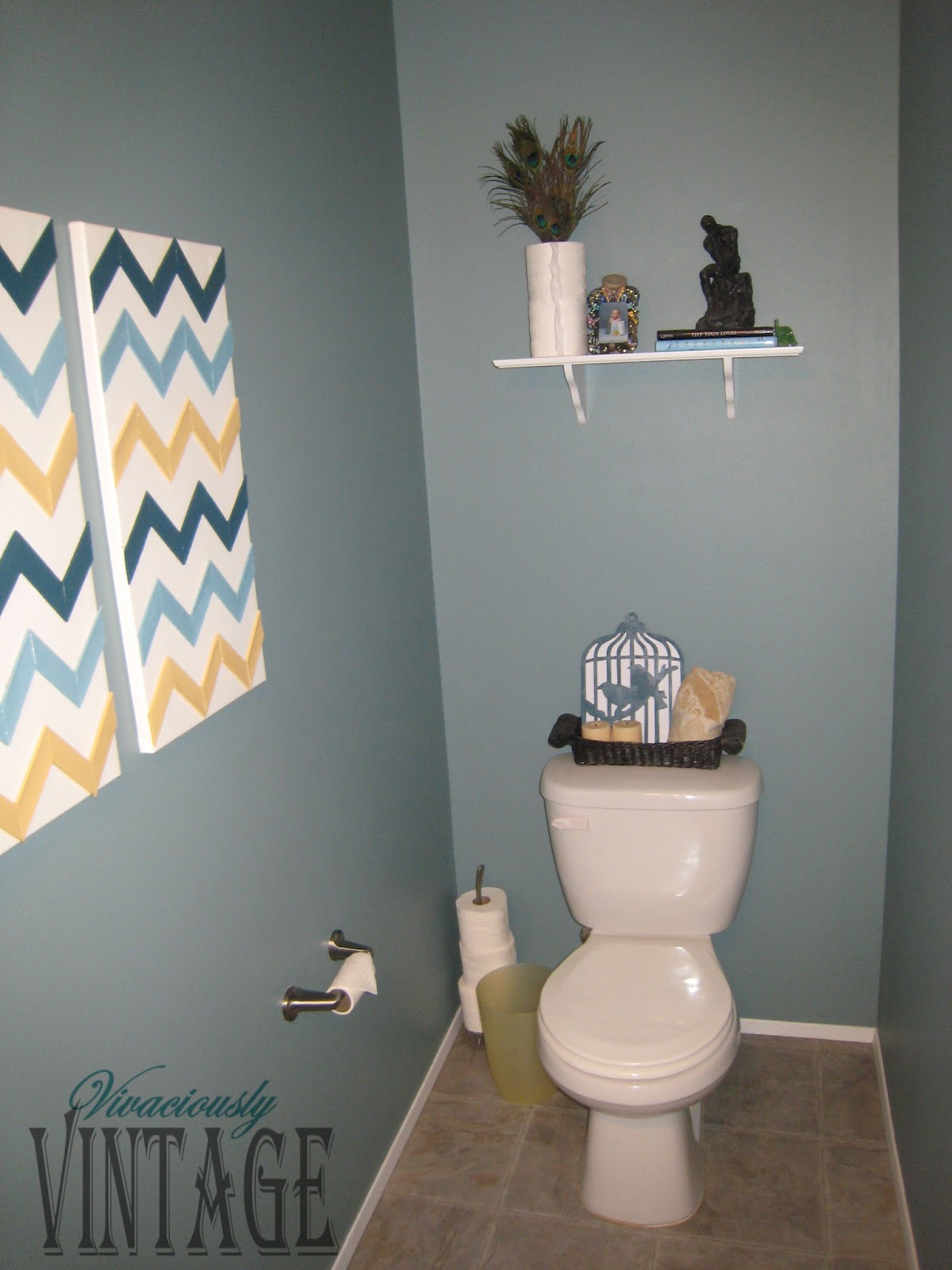 Ansley designs half bathroom update for Washroom decoration ideas