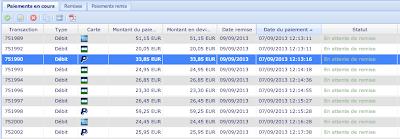 Visuallisation des paiements Paypal dans le back-office Payzen
