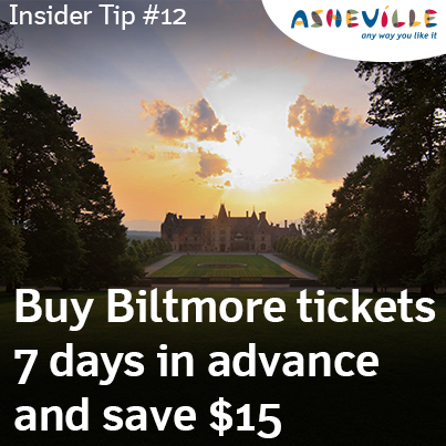 Asheville insider tip: Biltmore savings