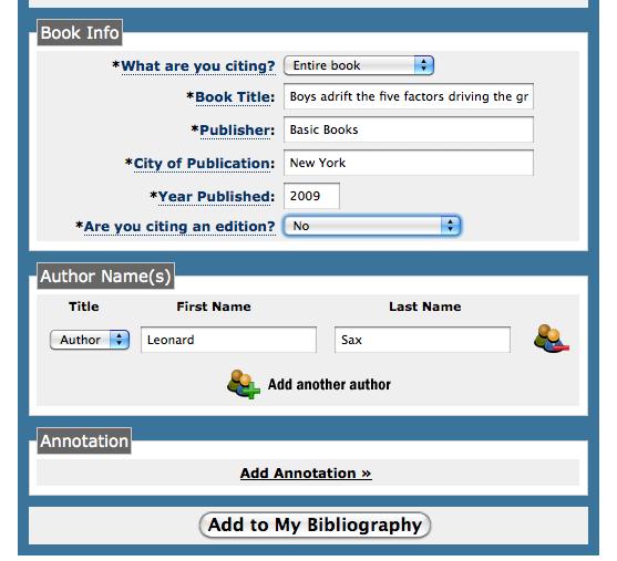 book bibliography maker