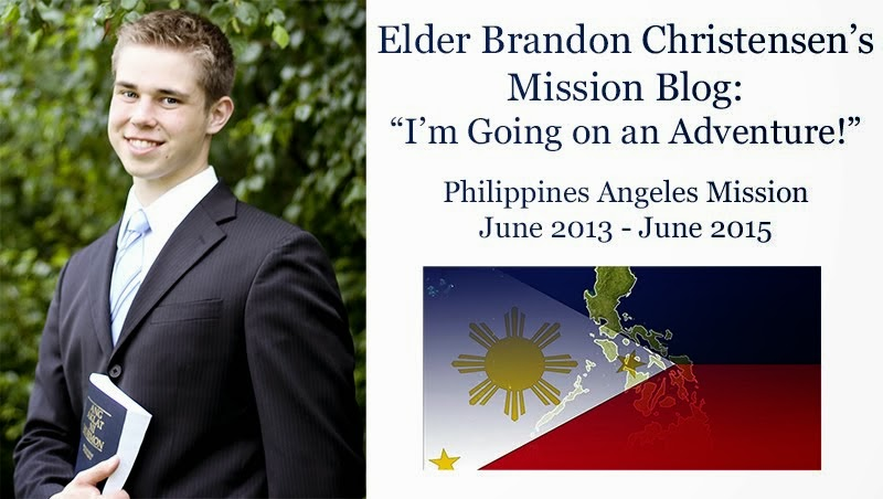 "Elder Brandon Christensen's Mission Blog: ""I'm Going on an Adventure!"""