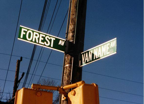 Corner of Van Name & Forest Ave's Staten Island, New York