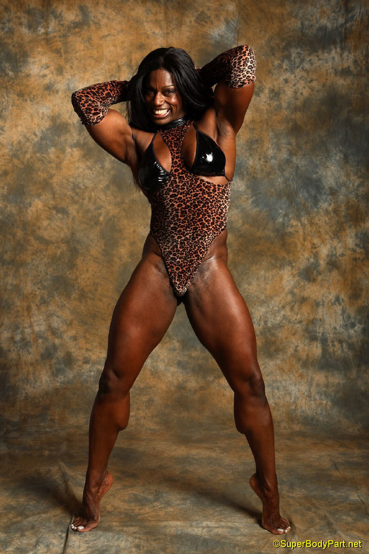 Tracy Hess Models Her Amazing Calves And Muscular Physique