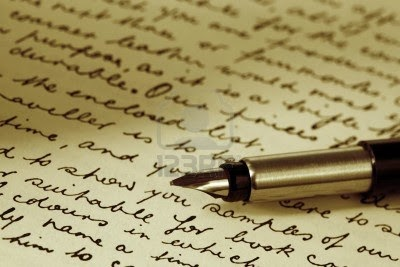 old fashioned writing
