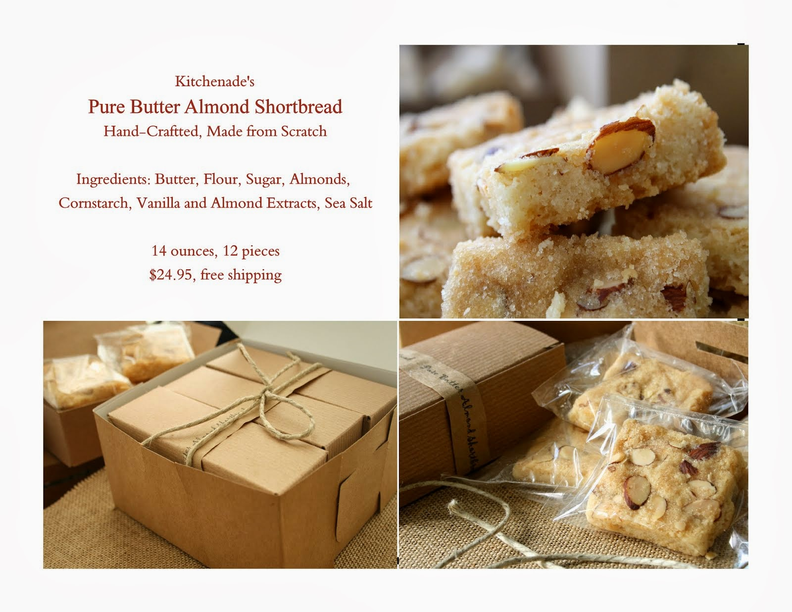 Kitchenade's Pure Butter Almond Shortbread