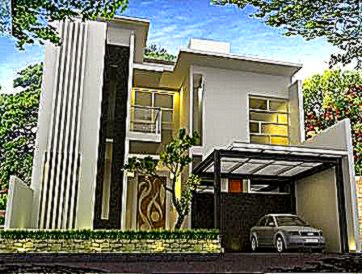 Rumah Modern Minimalis Sederhana  Contoh Desain Rumah Minimalis