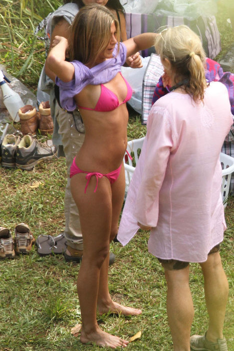 actress Jennifer aniston nipple visible in bikini