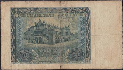 Polonia 50  Zlotych 1940 P# 96