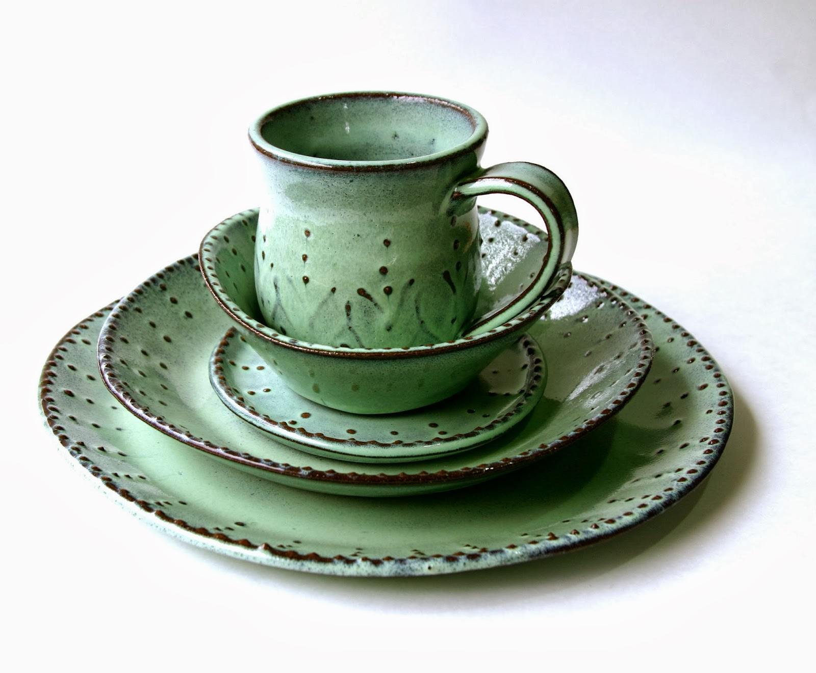 back bay pottery french country handmade dinnerware by