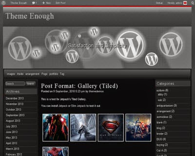 Raindrops WordPress Theme