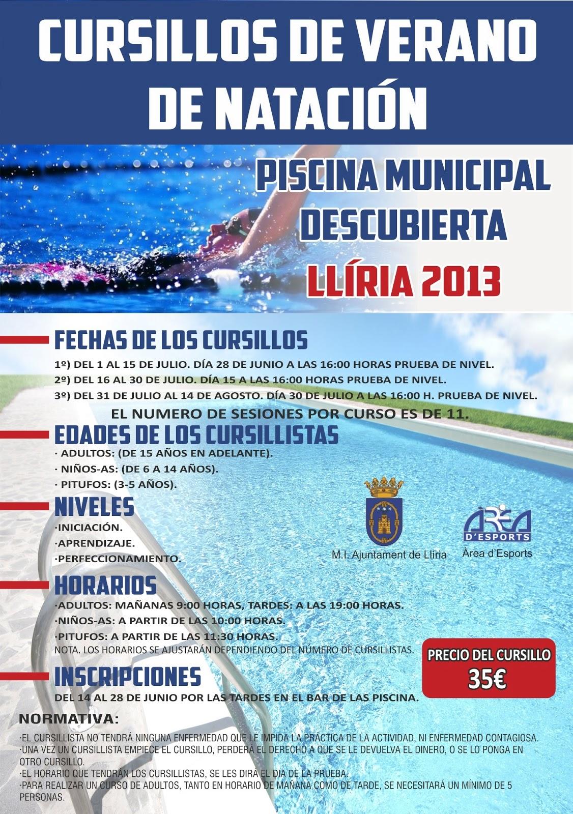 Esport lliria mayo 2013 for Piscina municipal lliria