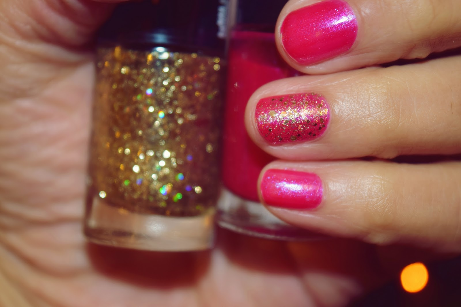 Maybelline's Crushed Candy & Gold's Night Out Nail Polishes