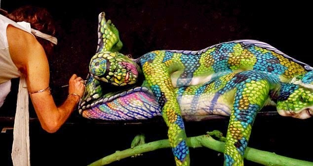 Humans Pose As Chameleon