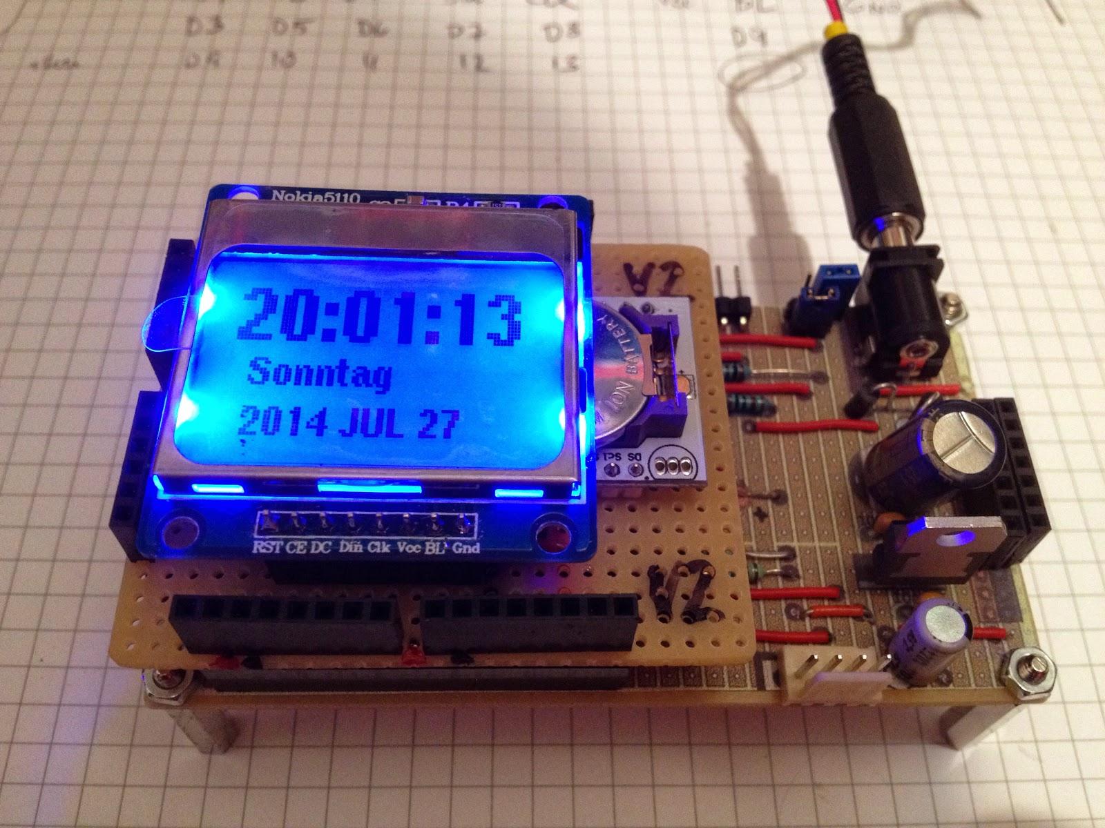 Thd arduino projekte nokia diy display shield