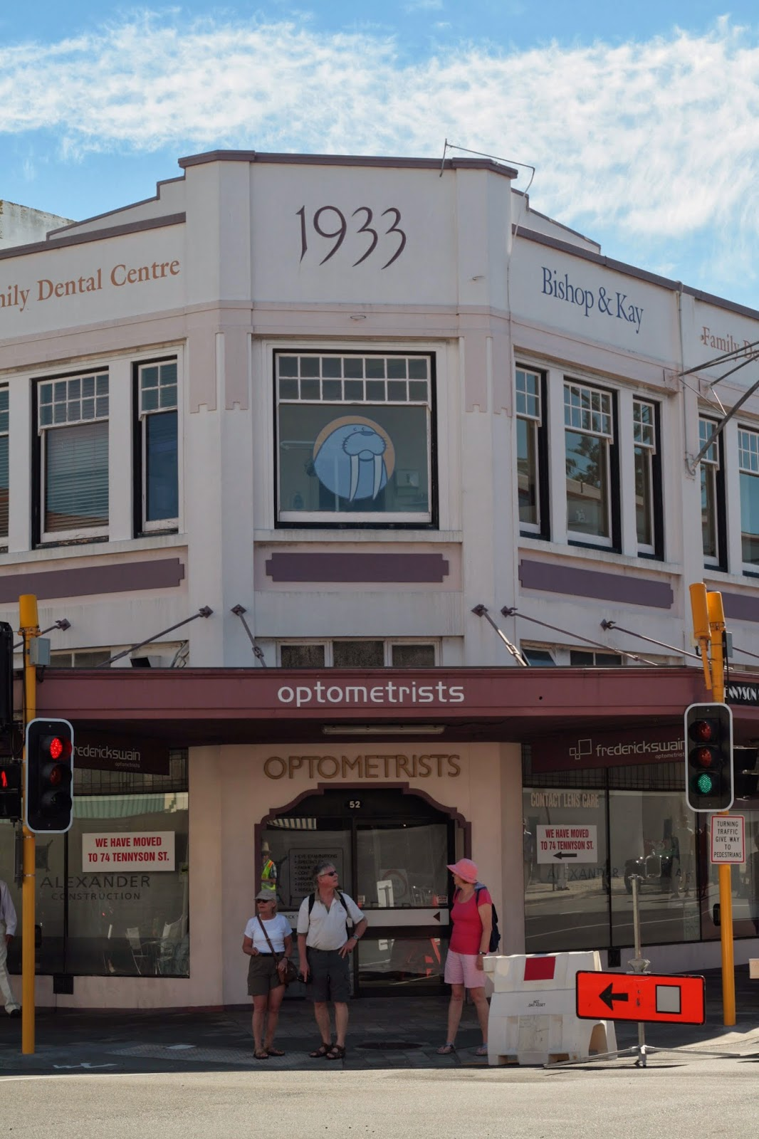 Art deco building from 1933 in Napier New Zealand.