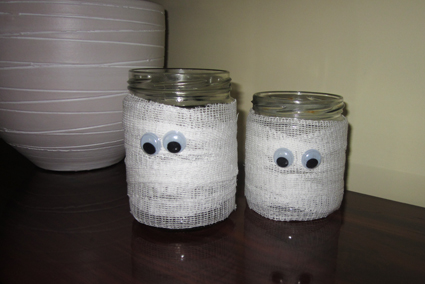 Tarros porta velas para Halloween