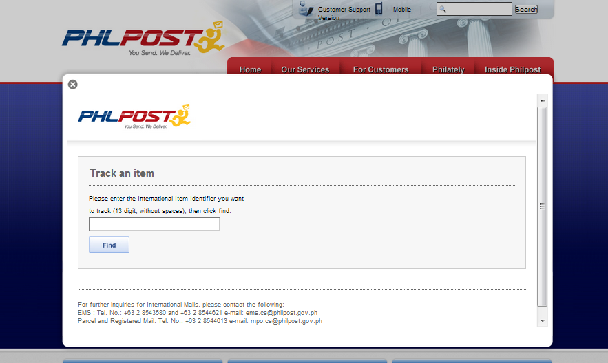 Ordering from ebay international to the philippines - Philippine post office track and trace ...