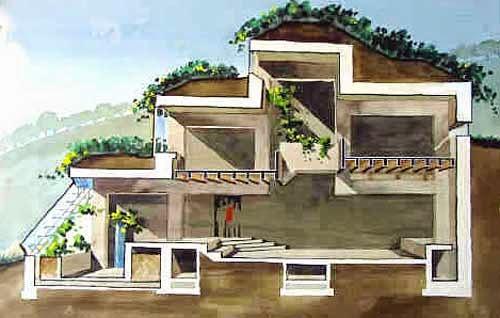 Stunning Berm Home Designs Contemporary Ideas Design - Earth berm home plans