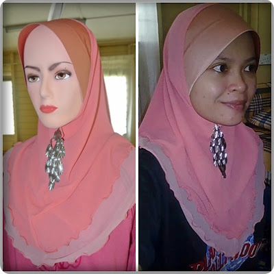 Tudung Awning Thai Silk 2 Layers 2 Tones.