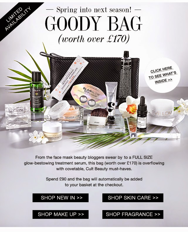 Cult Beauty Free Spring Goody Bag Worth £170 When You Spend £90