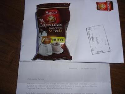 He recibido mi cápsula de café Marcilla gratis