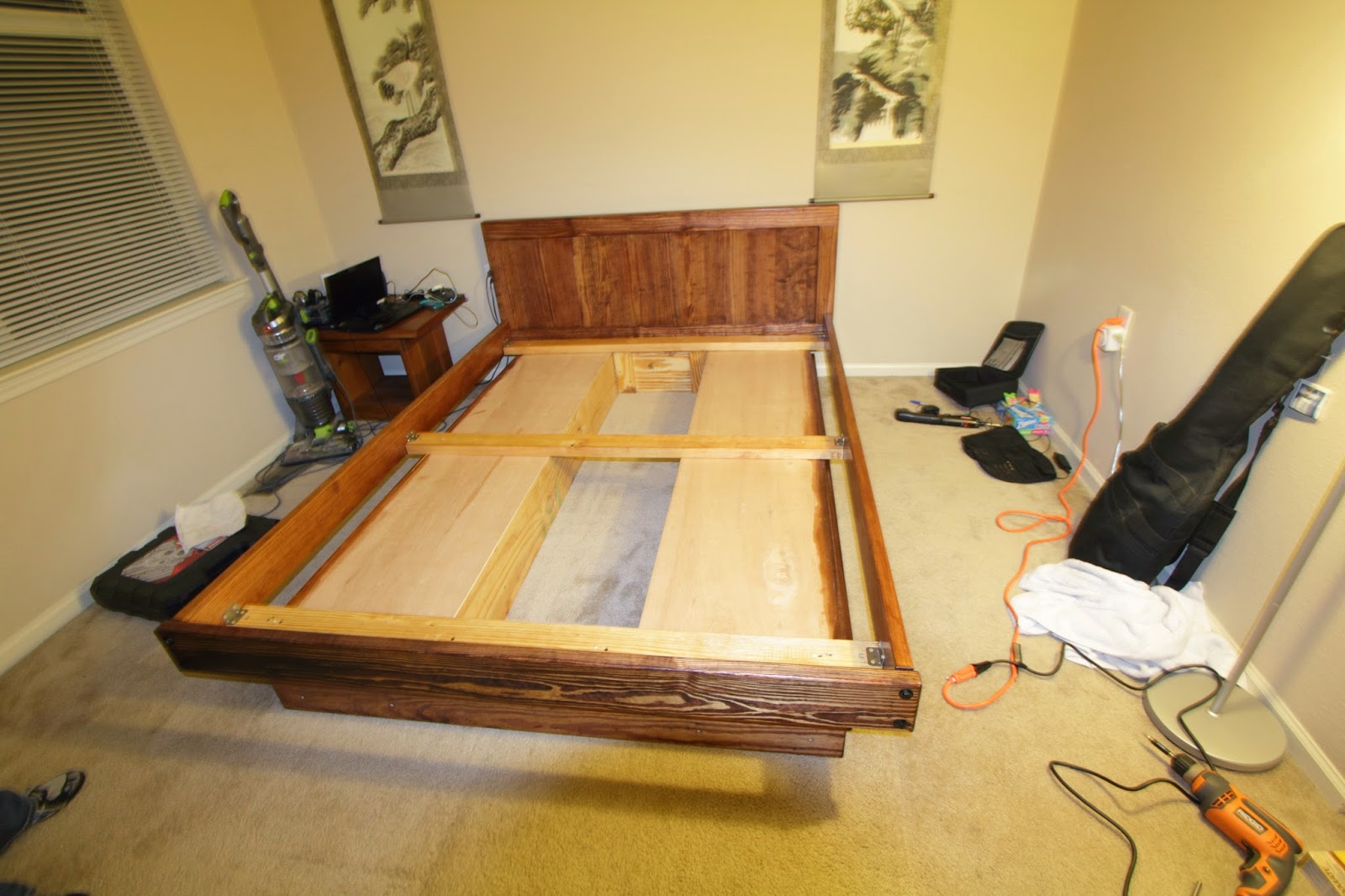 Side Rails, Headboard, And Foot Rail All Connected: