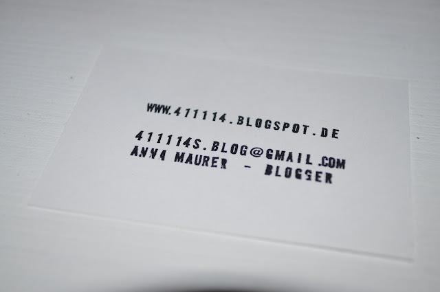 Meine Blogger Visitenkarte für Blogst