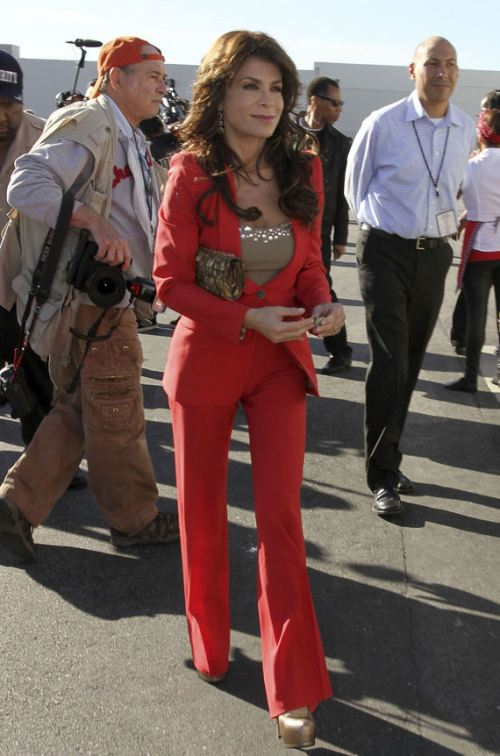 Paula Abdul wearing Men's Suits 7