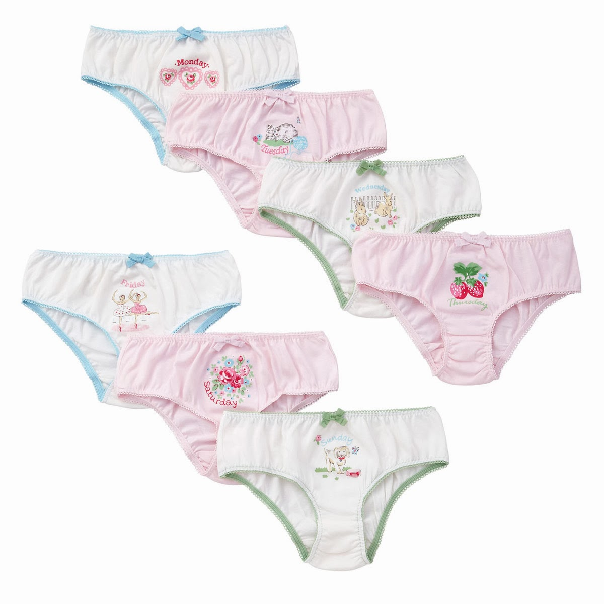 mamasVIB | V. I. BUYS: Retro Weekday Undies for BIG & LITTLE girls!, Cath Kidston weekday underwear | kids underwear | days of the week | christmas stocking filler ideas | mamasVIB | V.I.BABY