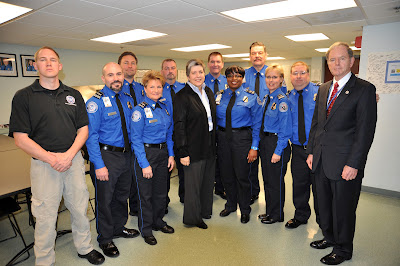 TSA Officers With DHS Secretary Napolitano