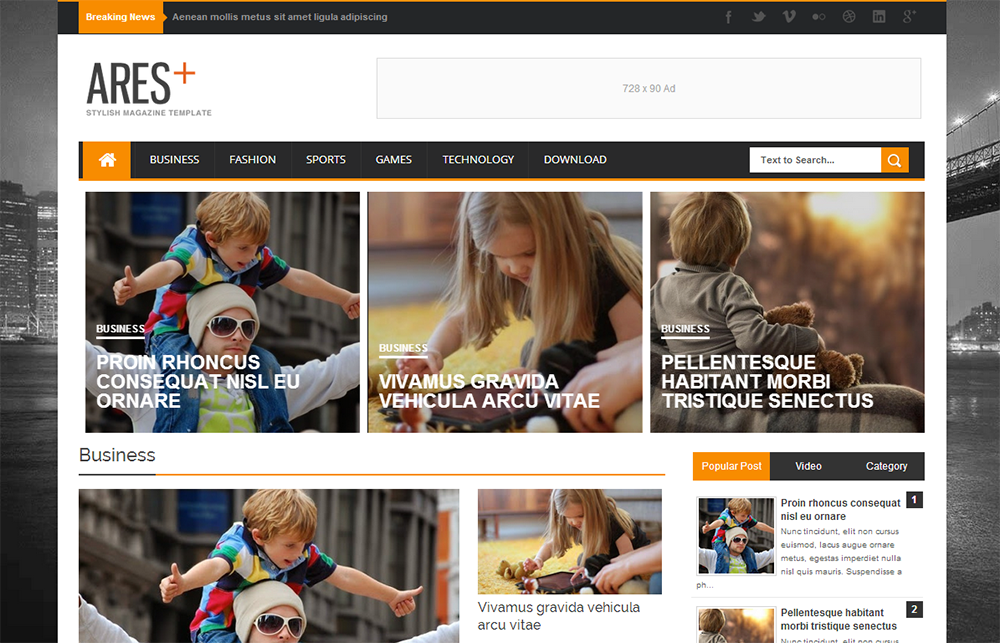 Ares Responsive Template Blogger