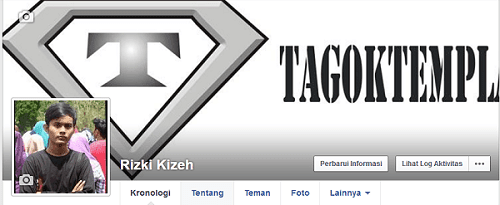 Tampilan profil facebook