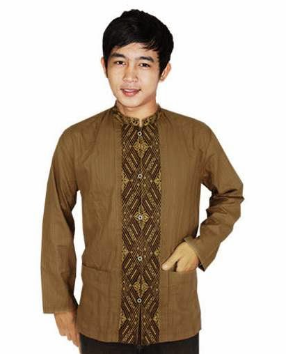 Contoh model baju koko batik muslim pria