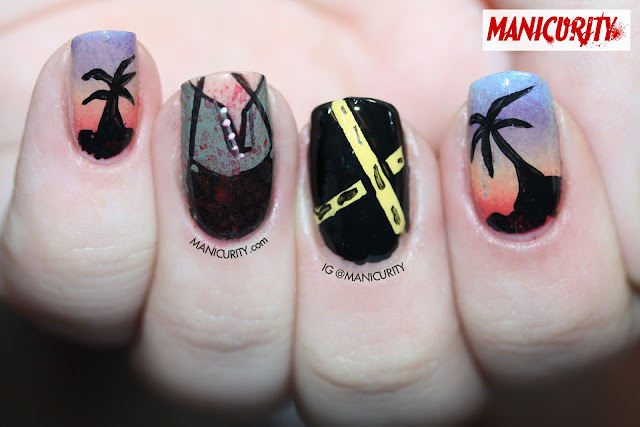Manicurity | nail art inspired by the TV show DEXTER