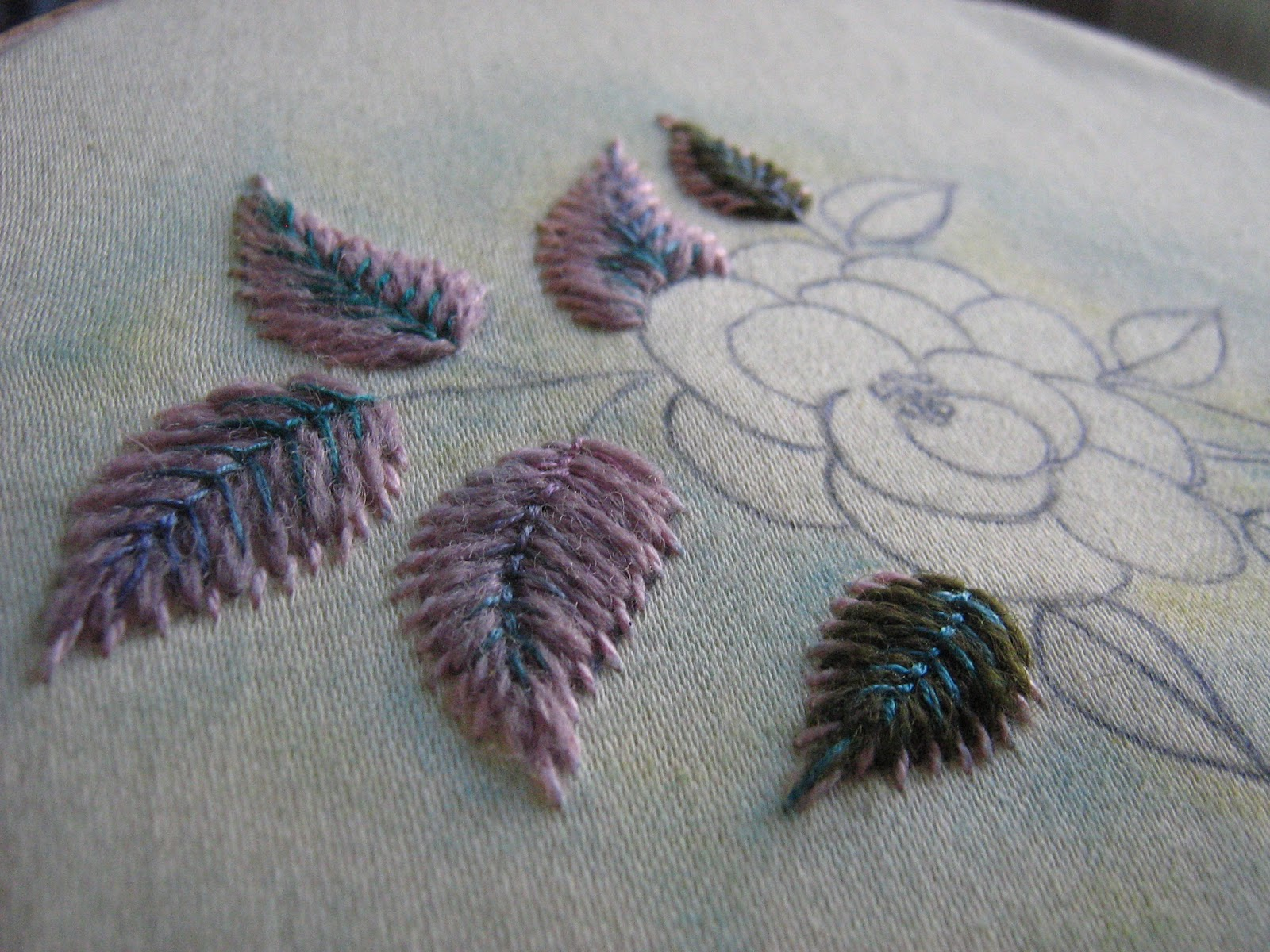 Ella s craft creations my embroidered leaf tutorial