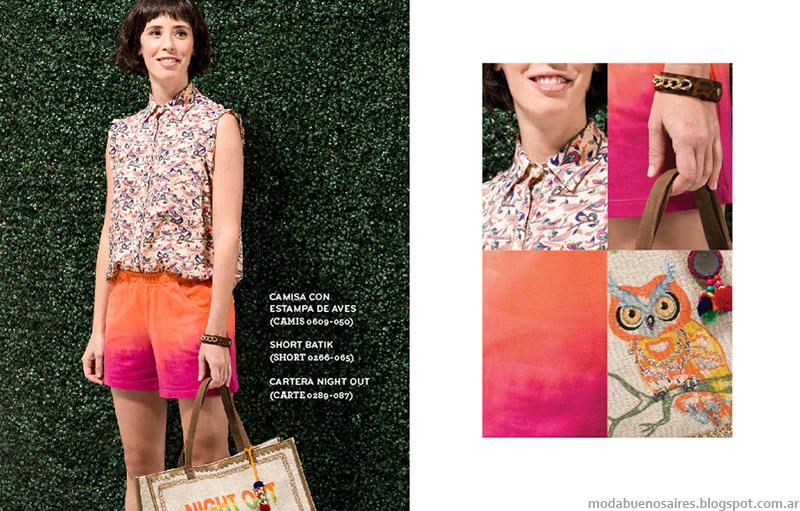 Shorts batik y tie dye moda verano 2015 Ver.