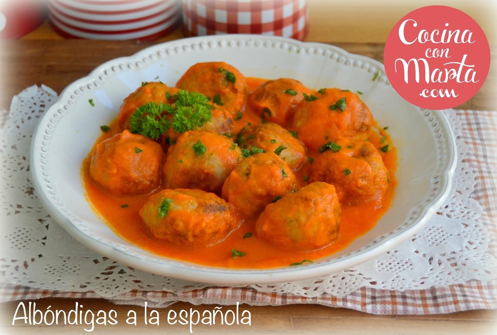 Alb ndigas en salsa espa ola en olla gm for Cocina tradicional espanola