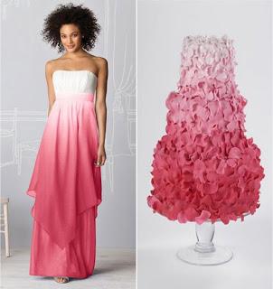 Торт в стилі весільного плаття
