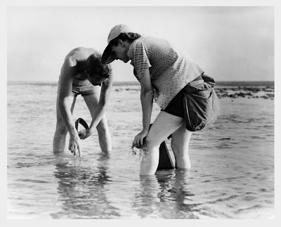 Rachel Carson Conducting Marine Biology Research with Bob Hines  who was an American wildlife artist who had a long career  with the United States Fish and Wildlife Service