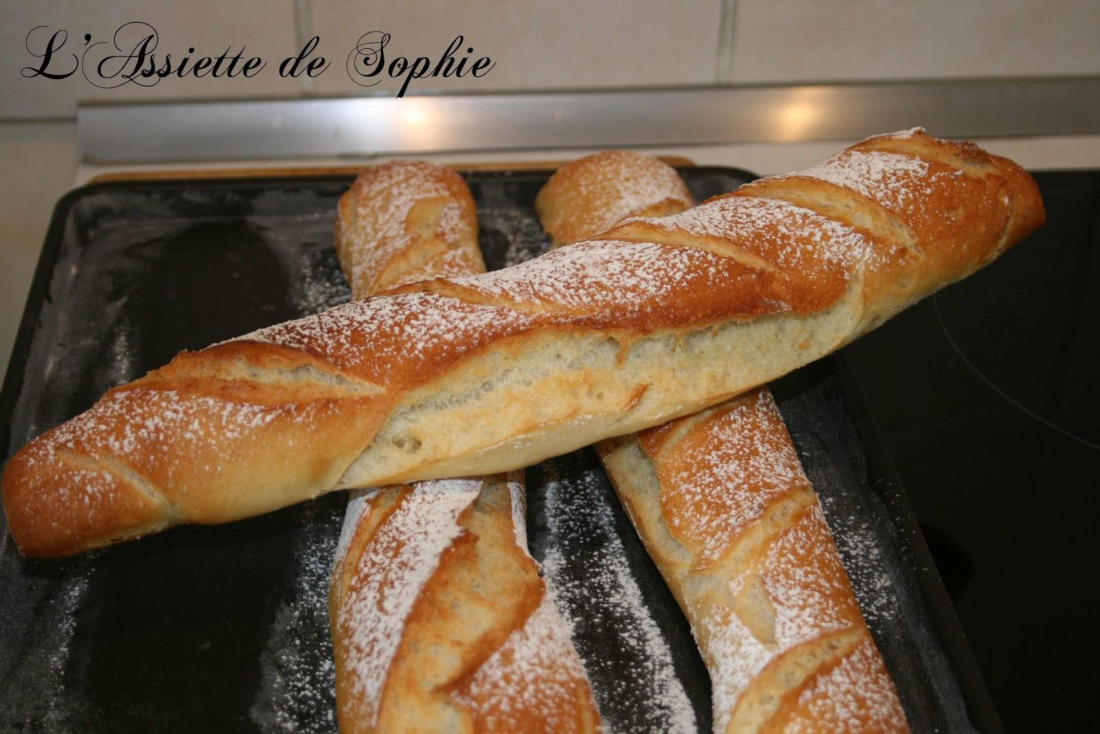 L 39 assiette de sophie baguettes de pain for Baguette de pain maison