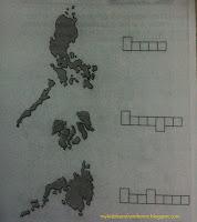 papel bakatin ang hugis o iprint ang hugis ng mapa ng Pilipinas